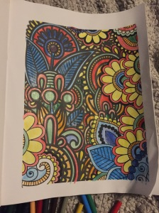 I also decided to experiment with the adult coloring book craze; jury is out